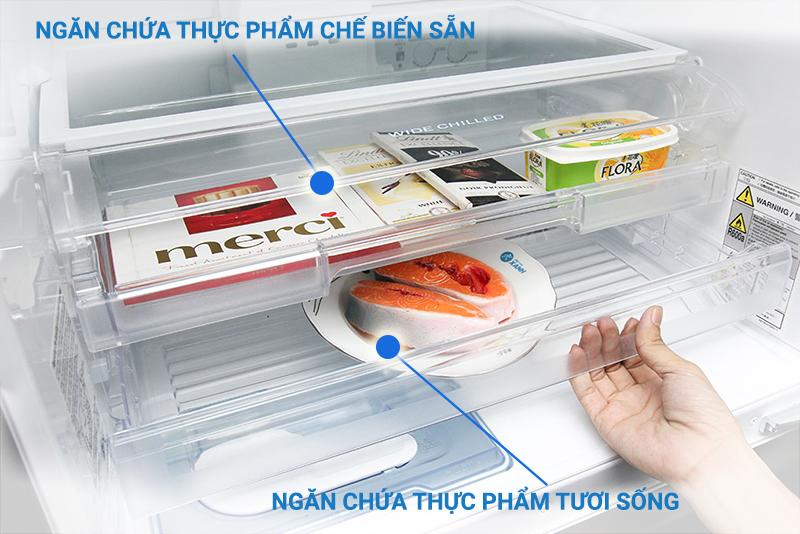 Bảo quản thực phẩm an toàn nhất với các ngăn chứa riêng biệt
