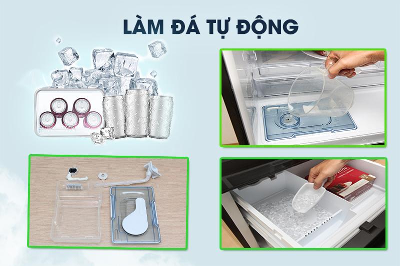 Làm đá nhanh và sạch hơn của tủ lạnh Mitsubishi Electric Inverter 326 lít MR-CX41EJ-BRW