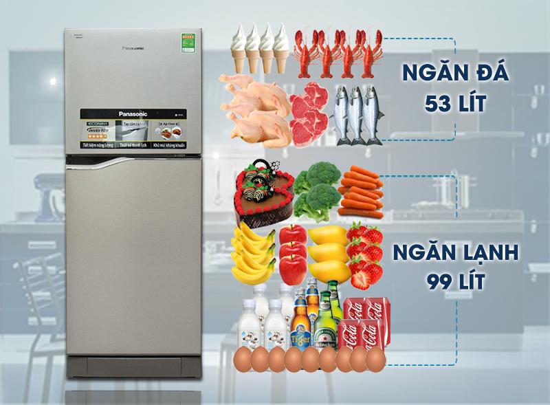 Kiểu dáng hiện đại, lôi cuốn với tủ lạnh Panasonic 152 lít NR-BA178VSVN