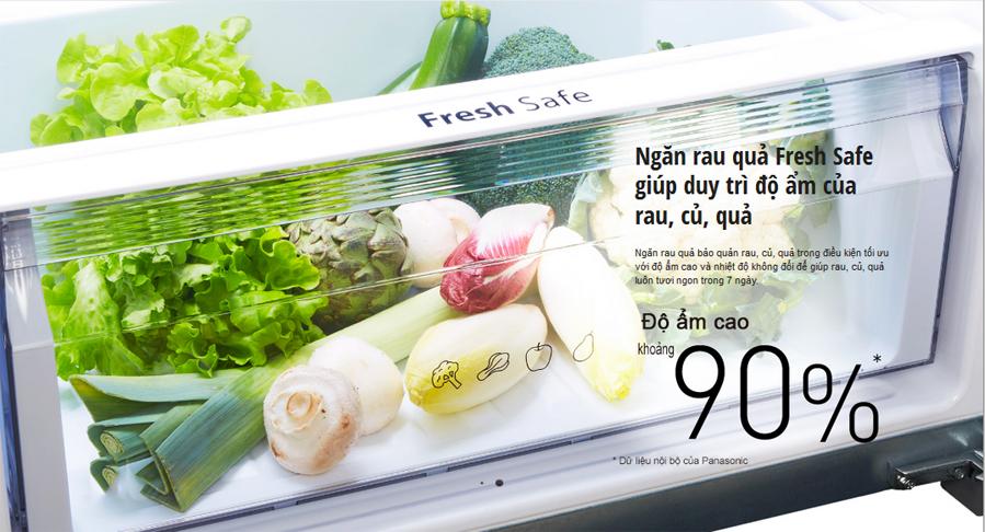 Ngăn giữ ẩm Fresh Safe chống héo úa rau củ quả của tủ lạnh NR-BD468GKVN