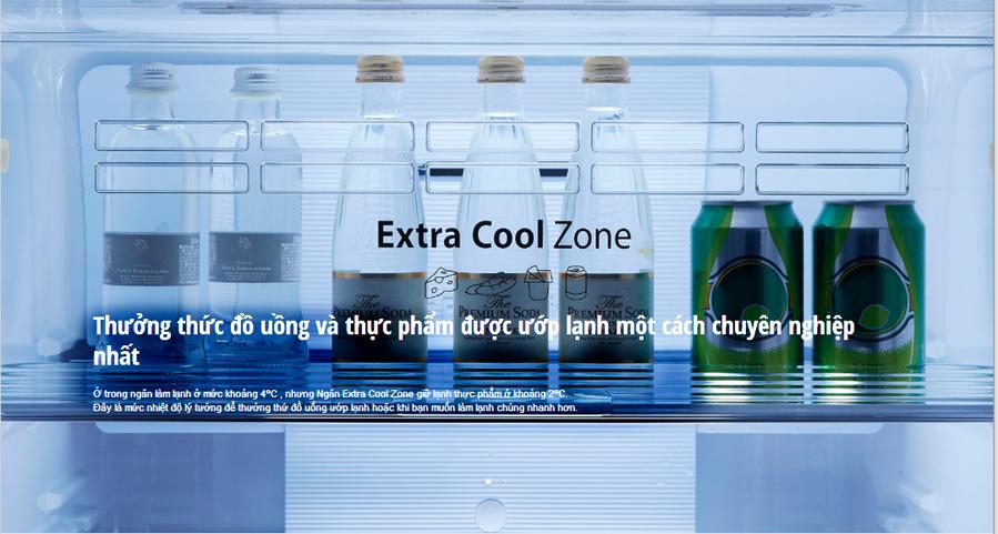 Ngăn Extra Cool Zone giữ lạnh ở 2 độ C