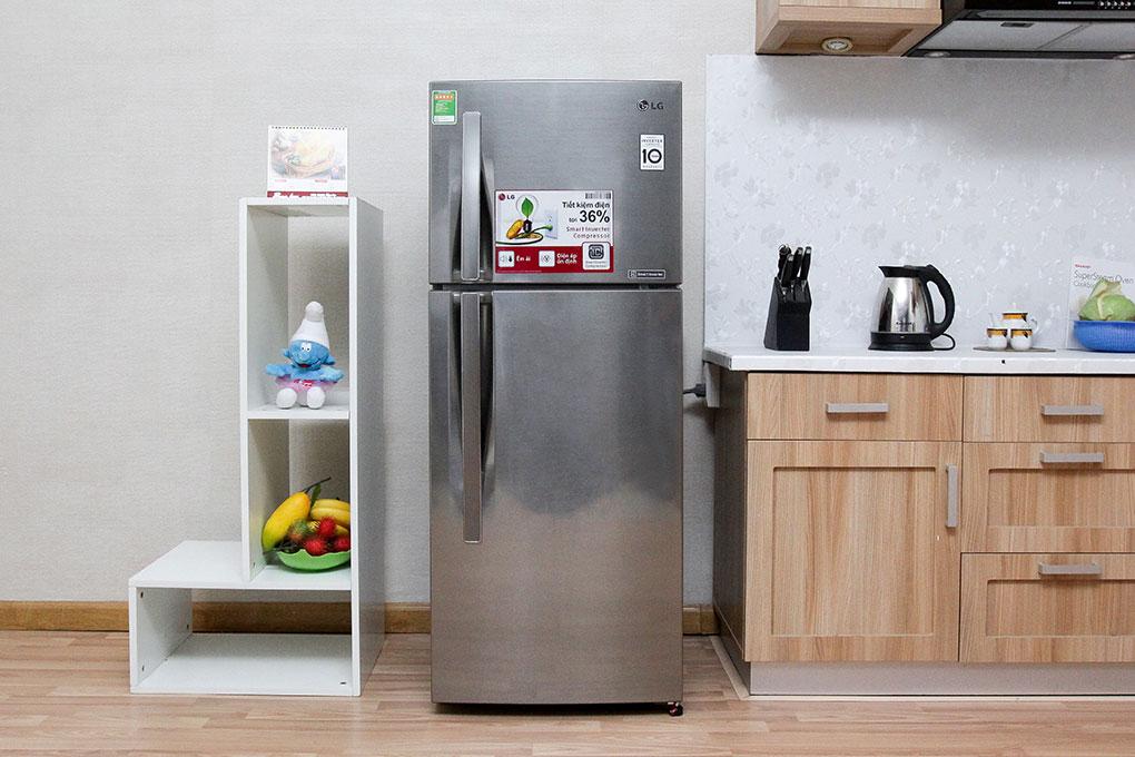 Kiểu dáng đơn giản nhưng đầy tinh tế với tủ lạnh LG 315 lít GR- L 333 BS