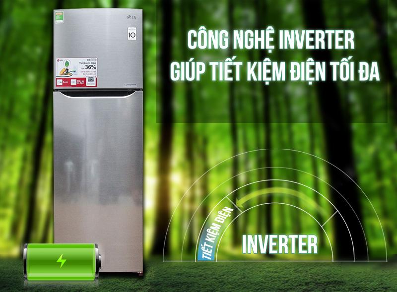 Công nghệ biến tần Inverter giúp tiết kiệm điện năng tối đa, máy hoạt động êm ái, bền bỉ