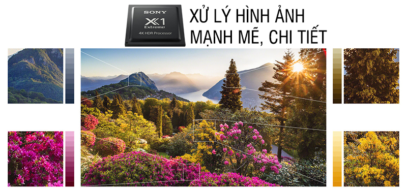 Tích hợp bộ xử lý hỗ trợ hình ảnh X1 Extreme tiên tiến nhất của tivi Sony 55A1