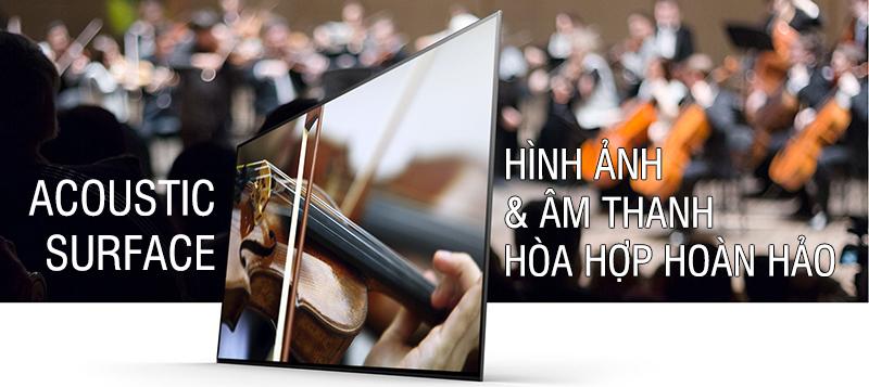 Trải nghiệm với chất lượng âm thanh hoàn hảo của tivi Sony 4K 55 inch 55A1