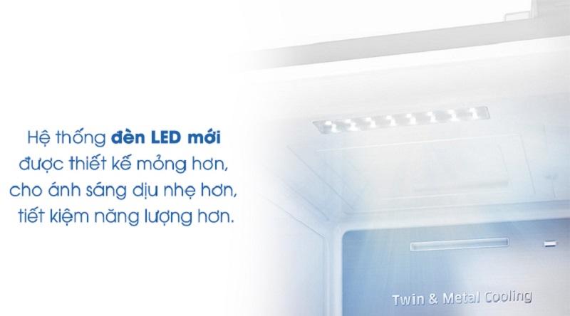 Hệ thống đèn led mới giúp bạn quan sát dễ dàng hơn - Tủ lạnh Samsung Inverter 620 lít RH58K6687SL/SV