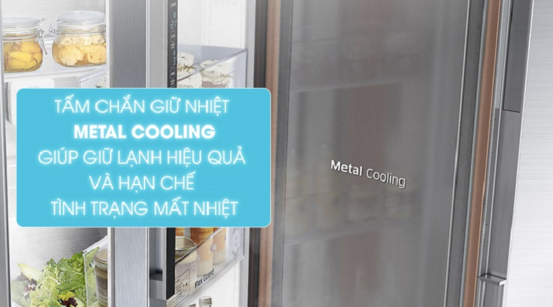 Trang bị tấm chắn Metal Cooling - Tủ lạnh Samsung Inverter 620 lít RH58K6687SL/SV