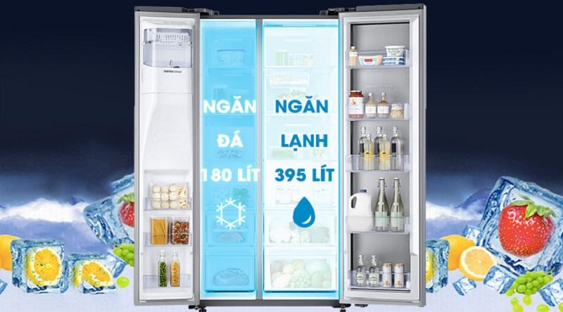Thoải mái tích trữ thực phẩm với dung tích tới 620 lít - Tủ lạnh Samsung Inverter 620 lít RH58K6687SL/SV