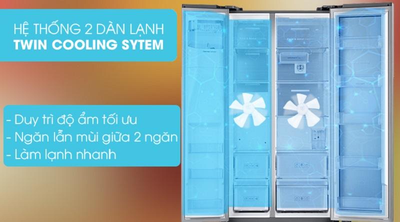 Ổn định nhiệt độ mỗi ngăn với hệ thống 2 dàn lạnh độc lập - Tủ lạnh Samsung Inverter 620 lít RH58K6687SL/SV