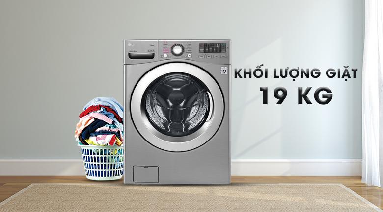 Khối lượng giặt 19 kg - Máy giặt LG Inverter 19 kg F2719SVBVB