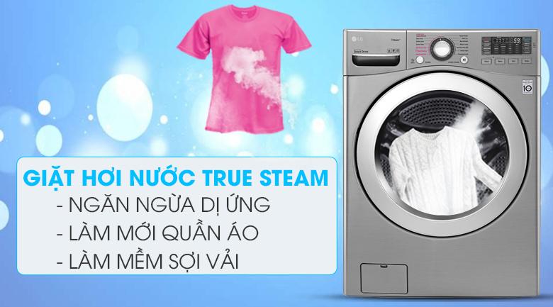 Công nghệ hơi nước True Steam - Máy giặt LG Inverter 19 kg F2719SVBVB