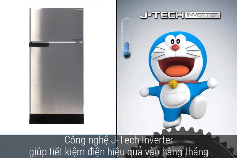 Tủ lạnh công nghệ cao Sharp Inverter 165 lít SJ-X176E-SL