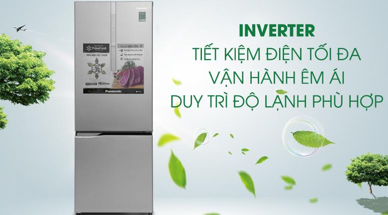Inverter - Tủ lạnh Panasonic Inverter 290 lít NR-BV329XSVN