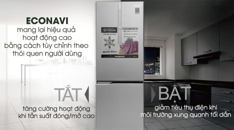 Econavi - Tủ lạnh Panasonic Inverter 290 lít NR-BV329XSVN