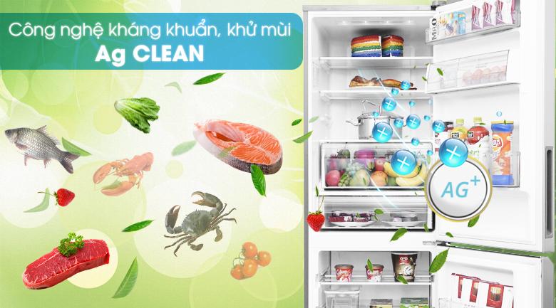 Kháng khuẩn tinh thể bạc Ag Clean khử sạch vi khuẩn và mùi hôi thực phẩm - Tủ lạnh Panasonic Inverter 290 lít NR-BV329XSVN