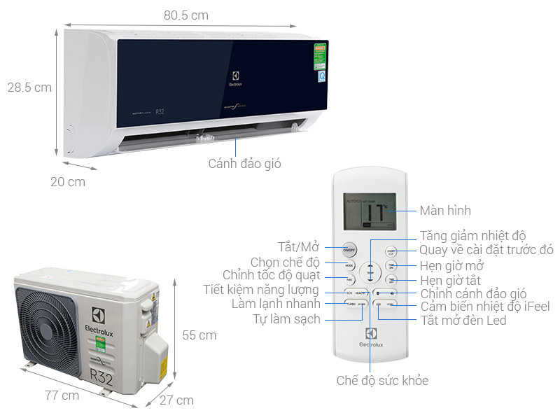 Thông số kỹ thuật của điều hòa Electrolux ESV12CRO-D1