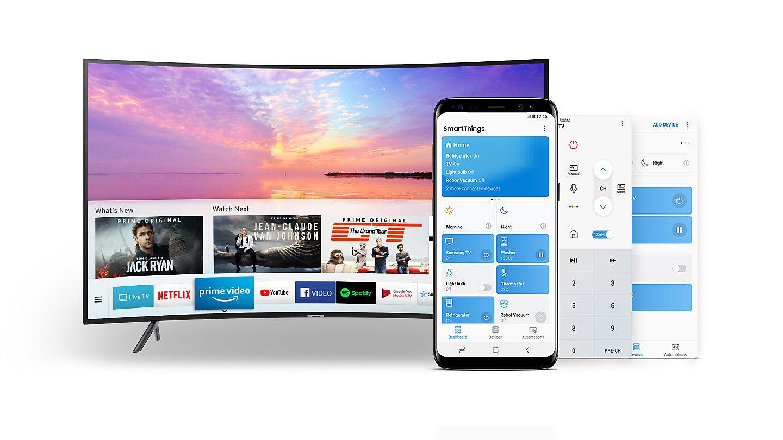 Tính năng Smartthings giúp điều khiển Smart Tivi Samsung 55 inch UA55NU7300KXXV vô cùng thông minh