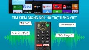 Android Tivi Sony 4K 55 inch KD-55A8F hỗ trợ tìm kiếm bằng giọng nói