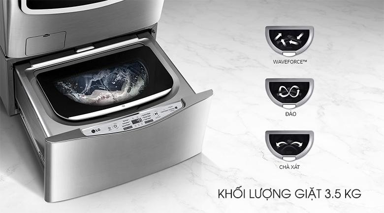Khối lượng giặt 3.5 kg - Máy giặt Mini LG 3.5 kg T2735NWLV