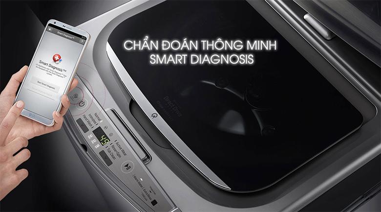 Chẩn đoán thông minh Smart Diagnosis - Máy giặt Mini LG 3.5 kg T2735NWLV