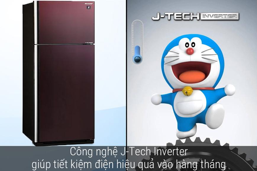 Tủ lạnh Sharp Inverter 364 lít SJ-XP405PG-BR có công nghệ Inverter tiết kiệm điện hiệu quả