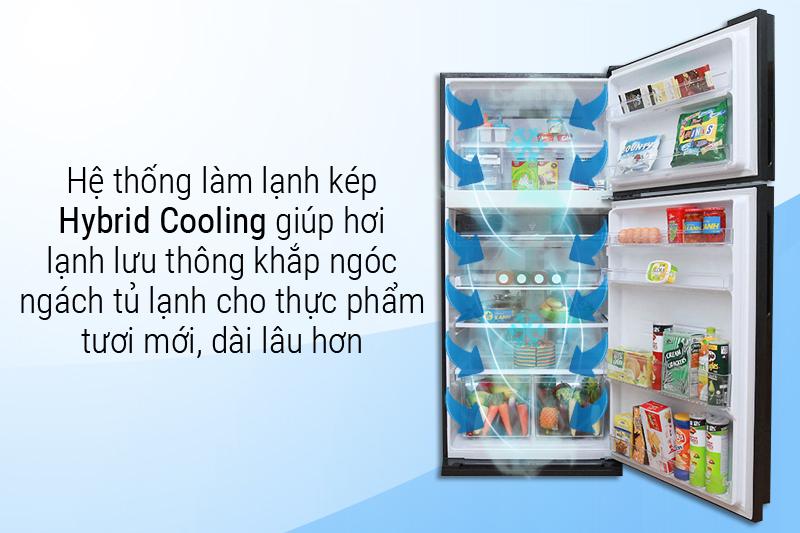 Nhanh chóng làm lạnh thực phẩm đồng đều với hệ thống làm lạnh kép Hybrid Cooling