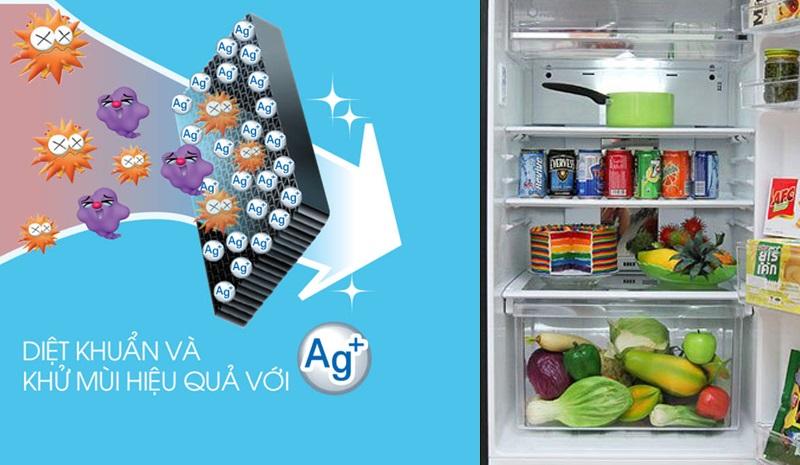 Bộ khử mùi phân tử bạc Nano Ag+ ngăn chặn vi khuẩn gây mùi hôi bên trong tủ lạnh