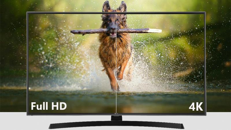 Độ phân giải 4k trên Smart Tivi LG 4K 43 inch 43UK6540PTD
