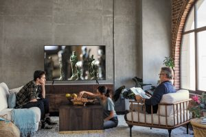 Thiết kế sang trọng hiện đại Smart Tivi Samsung 4K UA49NU7100