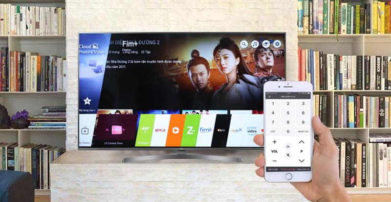 Điều khiển tivi bằng điện thoại bằng ứng dụng LG TV Plus trên Smart Tivi LG 50 inch 50UK6540PTD