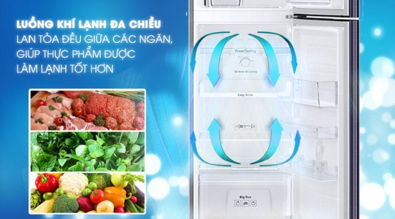Làm lạnh tốt hơn với hệ thống làm lạnh đa chiều - Tủ lạnh Samsung Inverter 256 lít RT25M4033UT/SV