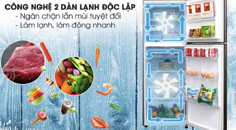Ổn định nhiệt độ mỗi ngăn với hệ thống 2 dàn lạnh độc lập - Tủ lạnh Samsung Inverter 299 lít RT29K5532DX/SV