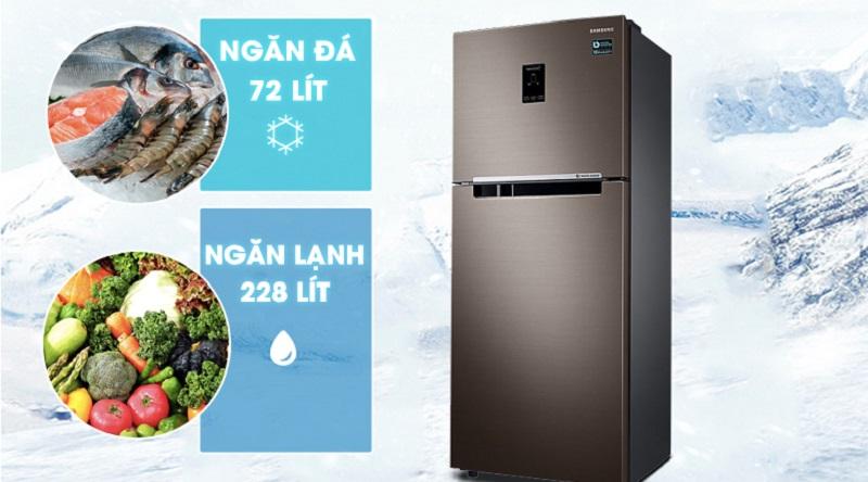 Dung tích tủ lên tới 299 lít - Tủ lạnh Samsung Inverter 299 lít RT29K5532DX/SV