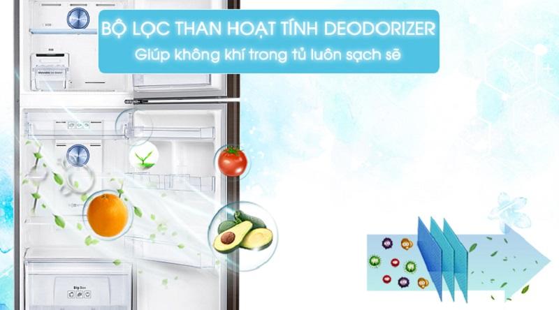 Bảo vệ sức khỏe với bộ lọc than hoạt tính - Tủ lạnh Samsung Inverter 299 lít RT29K5532DX/SV
