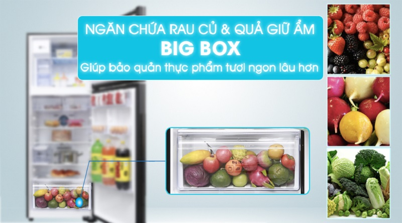 Ngăn chứa chuyên dụng giữ ẩm cho rau củ quả Bigbox - Tủ lạnh Samsung Inverter 380 lít RT38K5982DX/SV
