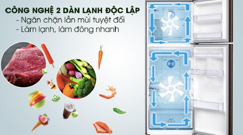 Công nghệ 2 dàn lạnh độc lập, giúp ổn định nhiệt độ tốt hơn - Tủ lạnh Samsung Inverter 380 lít RT38K5982DX/SV