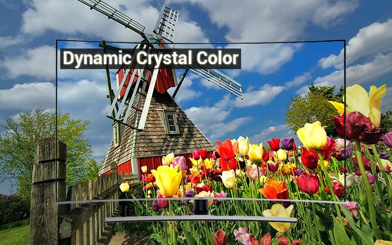 Công nghệ hình ảnh Dynamic Crystal Color Smart Tivi Cong Samsung 55 inch UA55NU8500