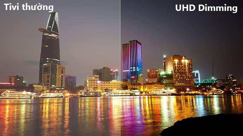 công nghệ UHD Dimming Smart Tivi Cong Samsung 55 inch UA55NU8500