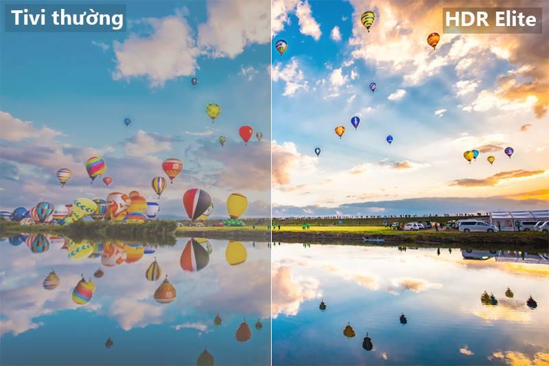 công nghệ HDR Smart Tivi Cong Samsung 55 inch UA55NU8500