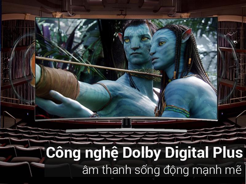 Công nghệ âm thanh Dolby Digital Plus trên Smart Tivi Cong Samsung 55 inch UA55NU8500