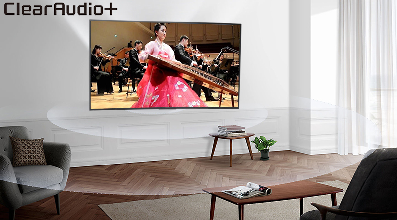 Công nghệ âm thanh Clear Audio + trên Smart Tivi Sony 4K 49 inch KD-49X7000F