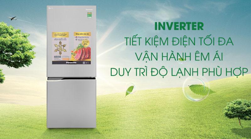 Công nghệ Inverter-Tủ lạnh Panasonic Inverter 255 lít NR-BV289QSV2