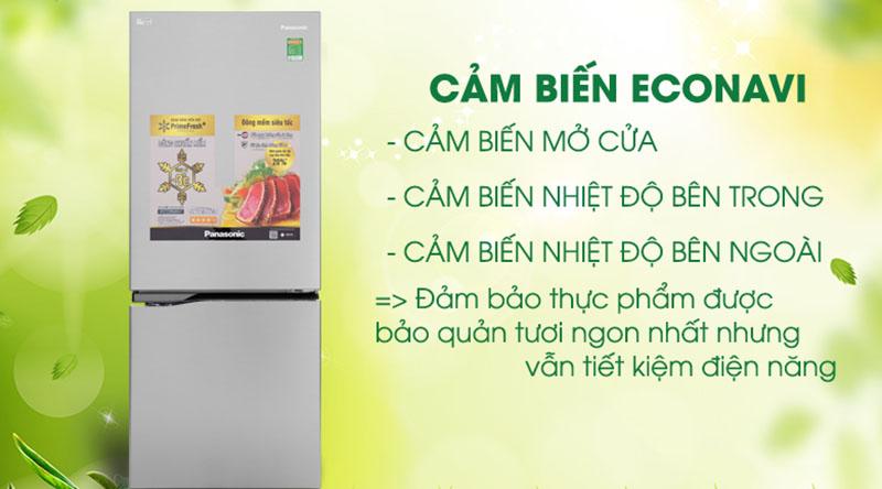 Cảm biến Econavi-Tủ lạnh Panasonic Inverter 255 lít NR-BV289QSV2
