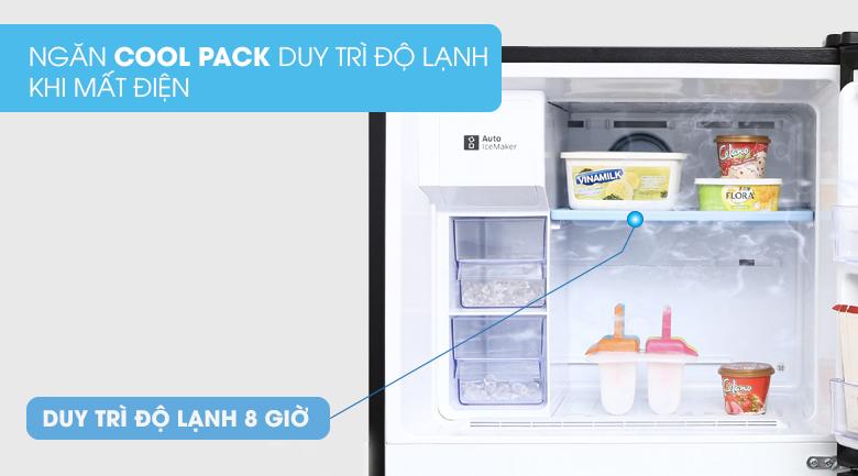 Vẫn duy trì nhiệt độ tốt khi mất điện với ngăn giữ nhiệt Cool Pack - Tủ lạnh Samsung Inverter 360 lít RT35K5982BS/SV