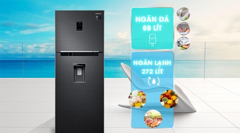 Dung tích tủ lạnh lên đến 360 lít - Tủ lạnh Samsung Inverter 360 lít RT35K5982BS/SV