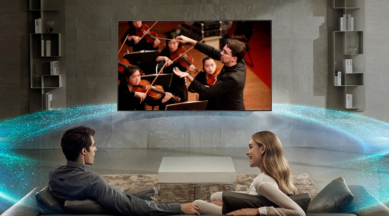 Âm thanh vòm bùng nổ cùng công nghệ DTS và Dolby Digital Plus