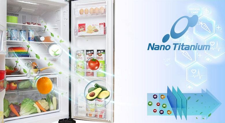 Màng lọc Nano Titanium - Tủ lạnh Hitachi Inverter 540 lít R-FW690PGV7 GBK
