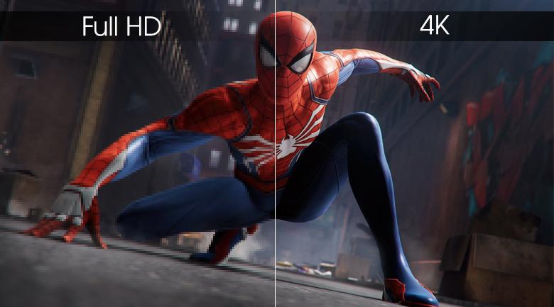 Độ phân giải 4K hiển thị hình ảnh nét gấp 4 lần Full HD