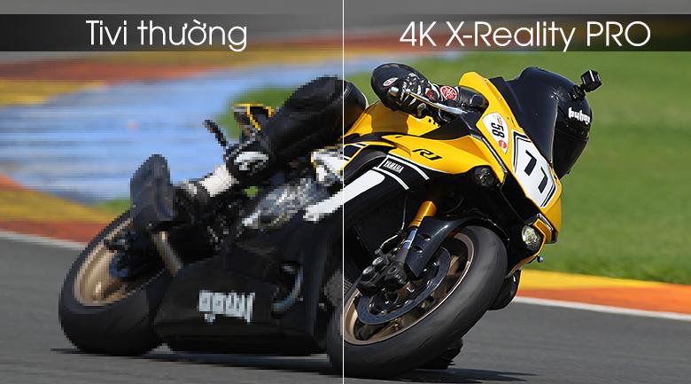 Công nghệ 4K X-Reality PRO cải thiện độ phân phải cho hình ảnh