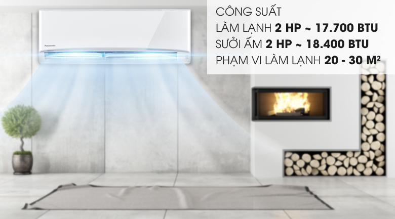 Công suất 17700BTU - Điều hòa 2 chiều Panasonic 17700 BTU CU/CS-YZ18UKH-8